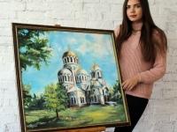 Собор Олександра Невського 60х60 (олія)