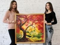 Пейзаж 80х80 (рельєфний живопис)