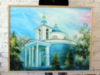Церква Різдва Богородиці 100х80 (олія)